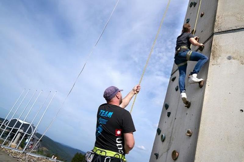 Klettern am Hochheideturm Start