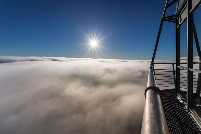 Nebelmeer vom Hochheideturm