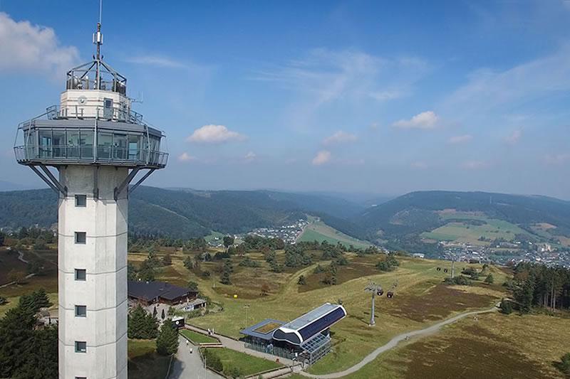 Hochheideturm Bergstation mit Talblick