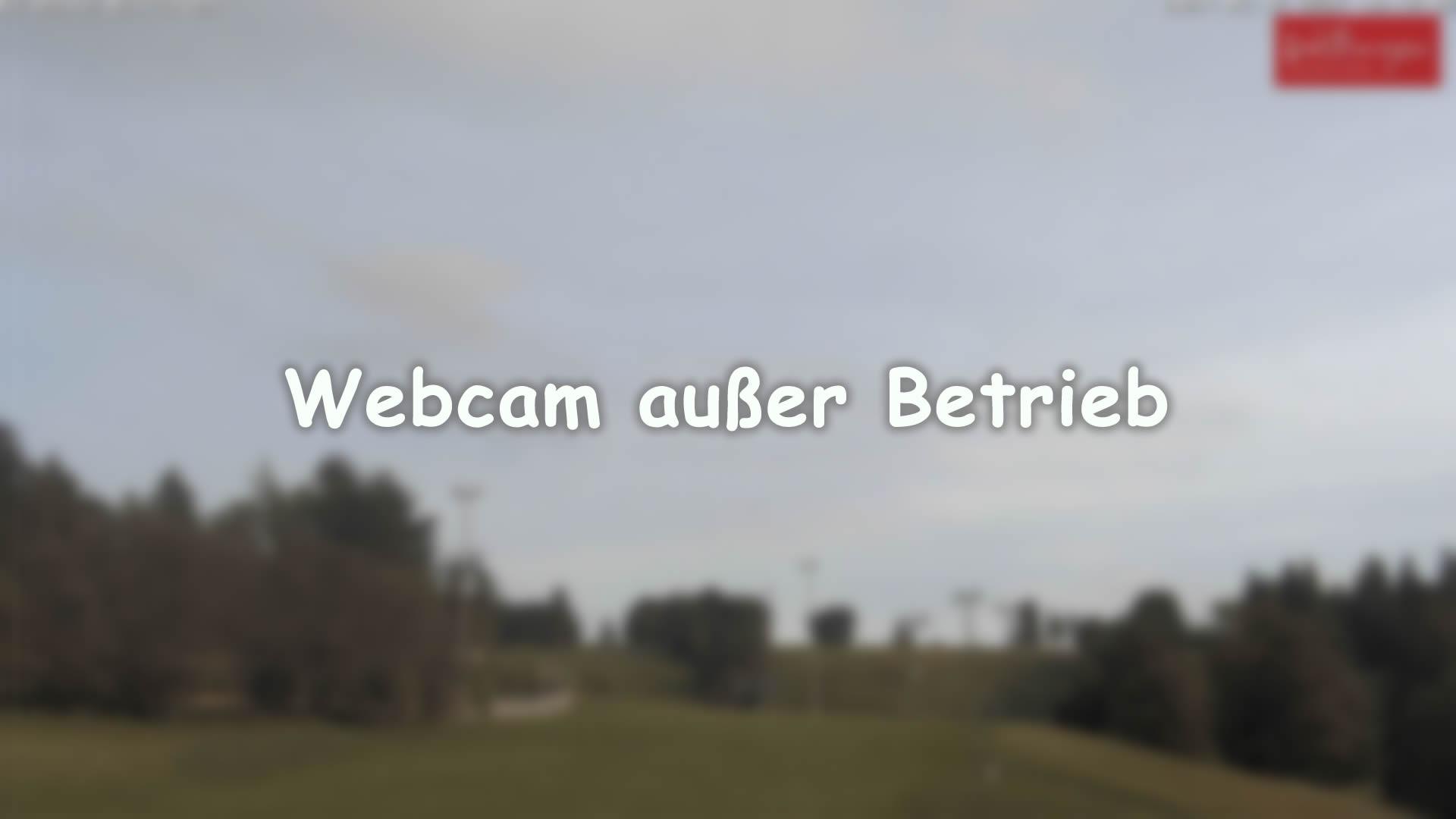 Blick auf die K1 Hütte der Ettelsberg-Seilbahn